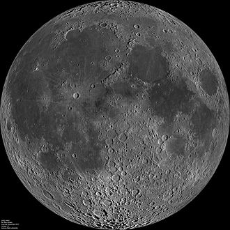 Near side of the Moon - Detailed view by NASA's LRO
