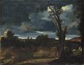 Moonlight Landscape (Giovanni Francesco Barbieri Guercino) - Nationalmuseum - 20163.tif