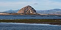 Morro Rock, Morro Bay, CA, with Sandspit and Grassy Island.jpg