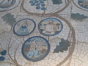 Mosaic in mount of beatitudes in israel