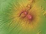 Mount Gede Relief Map, SRTM-1.jpg