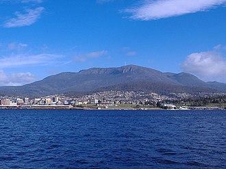 Wellington Range - Image: Mount Wellington Tasmania