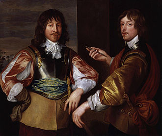 Army Plots (1641) - George Goring (right) with Mountjoy Blount, to whom he revealed details of the First Army Plot