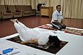 Mrs Manekar and Anil Shrikrishna Manekar - Salvasana - International Day of Yoga Celebration - NCSM - Kolkata 2015-06-21 7396.JPG