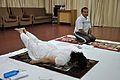 Mrs Manekar and Anil Shrikrishna Manekar - Salvasana - International Day of Yoga Celebration - NCSM - Kolkata 2015-06-21 7396.JPG