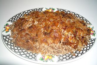 Jordanian cuisine - Mujaddara