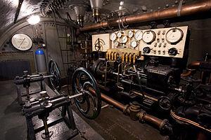 SM U-1 (Germany) - Center controls of U-1