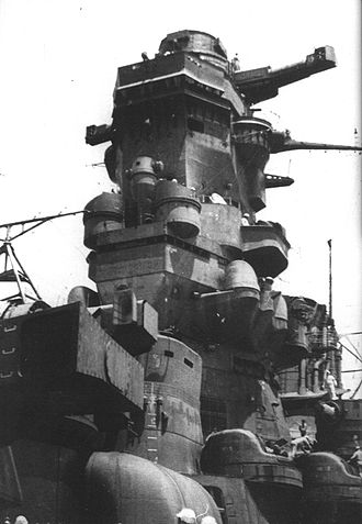 Yamato-class battleship - The bridge of Musashi.