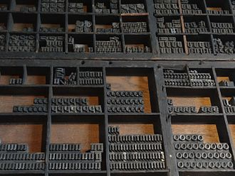 Plantin (typeface) - Cases of type at the Plantin-Moretus Museum.