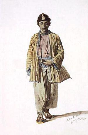 Ingiloy people - Image: Muslim Ingilo by T. Horschelt, 1858 1863
