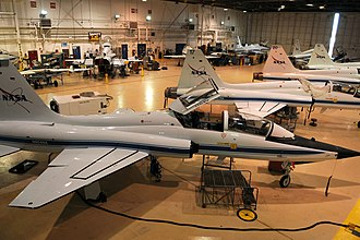 Ellington Field Joint Reserve Base - NASA T-38s in the hangar at Ellington Field