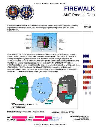 NSA ANT catalog - FIREWALK