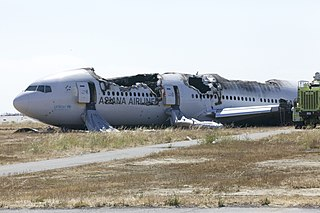 Asiana Airlines Flight 214 transpacific flight that crashed on July 6, 2013