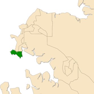 Electoral division of Port Darwin - Location of Port Darwin in the Darwin/Palmerston area