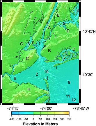 Geography of New York–New Jersey Harbor Estuary - Image: NYH gna 41074 5