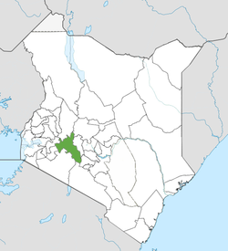 Die Nakuru County in Kenia.