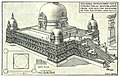 Nalanda University; Conjectural Reconstruction from Excavated Remains of the 5th Stupa, c. 6th century CE.jpg
