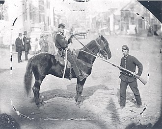 1st Delaware Cavalry - Knight (on horseback) in Westminster before Corbit's Charge