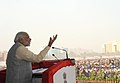 Narendra Modi addressing at the foundation stone laying ceremony for the construction of Delhi-Dasna-Meerut Expressway and Upgradation of Dasna-Hapur Section of NH-24, in Noida, Uttar Pradesh on December 31, 2015 (3).jpg