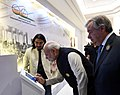 Narendra Modi visits Mini Digital Exhibition accompanied by the Secretary General of the United Nations, Mr. Antonio Guterres at the Mahatma Gandhi International Sanitation Convention (MGISC) (3).JPG