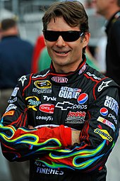 Jeff Gordon auf dem Daytona International Speedway im Jahr 2009