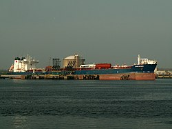 Navion Britannia at the '4e Petroleumhaven', Port of Rotterdam, Holland 23-Apr-2006.jpg