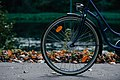 Navy bicycle with wheel (Unsplash).jpg