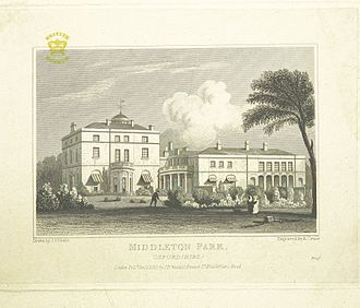 George Villiers, 4th Earl of Jersey - Middleton Park, Oxfordshire - seat of the Earls of Jersey, c.1830