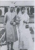 Jawaharlal and Kamala at their wedding.