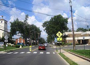 Neptune City, New Jersey - Center of Neptune City along Sylvania Avenue