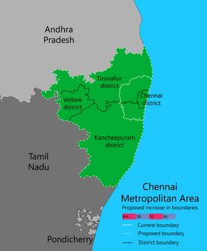 Chennai Metropolitan Area - Image: New CMA