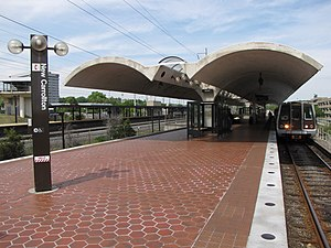 New Carrollton station - A Metro train at New Carrollton station in May 2010