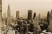 Midtown Manhattan, New York City, from Rockefeller Center, 1932.