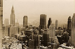Midtown Manhattan, New York City, from Rockefeller Center, 1932.