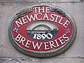 Newcastle Breweries sign on The Heart of England - geograph.org.uk - 1762727.jpg