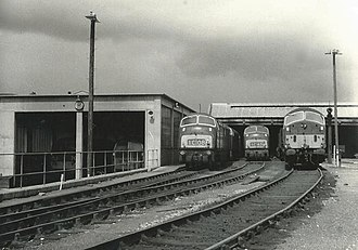 Newton Abbot railway station - The locomotive shed in 1966