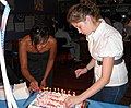Nicole and Samone cut the cake (2735405756).jpg
