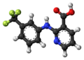 Niflumic acid molecule ball.png