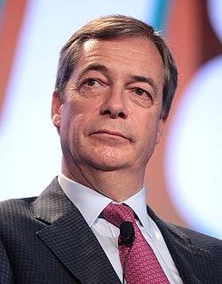 Nigel Farage British Reform UK politician, former MEP for South East England