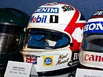 Nigel Mansell helmet 2017 Williams Conference Centre.jpg