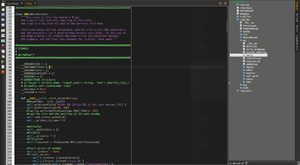 Screenshot of NINJA-IDE 2.3