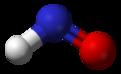 Ball and stick model of nitroxyl