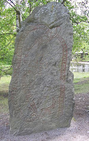 Kylfings - The Norslunda Runestone, bearing runic inscription U 419, which mentions the personal name Kylfingr