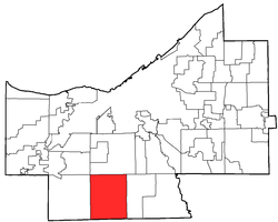 Location of North Royalton in Cuyahoga County