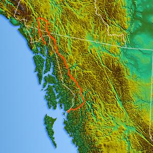 Boundary Ranges - Image: Northwest relief.2 Boundary Ranges