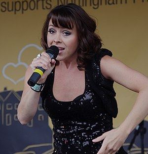 Lisa Scott-Lee performs onstage at Nottingham Pride 2010