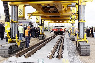 Ministry of Transport and Communications (Lithuania) - Construction of the first Rail Baltica rail. May 2010