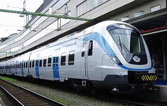 SL X60 - X60 commuter train at Stockholm Central Station