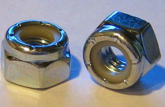 Locknut - Nylon lock nuts ('Nyloc')
