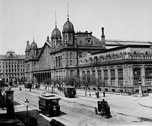 Budapest-Nyugati Railway Terminal - Budapest Nyugati station in the 19th century